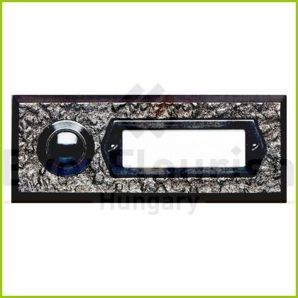 Csengő nyomógomb névtáblával 1-es bronz 0504360555