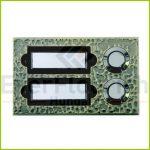 Csengő nyomógomb névtáblával 2-es bronz 0504370555