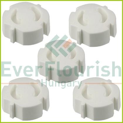 Vakdugó készlet, magas, fordítós, fehér, 5db 0509150555