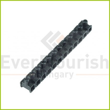 Sorkapocs 1 csavaros 6mm 12p fekete 0518397777