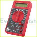 Digitális mérőkészülék, fekete / piros 0652H