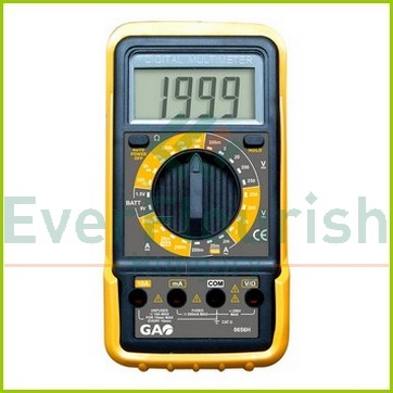 Digitális mérőkészülék, elemellenőrzés  0656H
