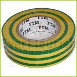Szigetelőszalag, 19mm x 20m, zöld/sárga 0693H