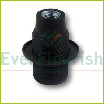 Fitting with ring, E14, max. 40W, black 0704H