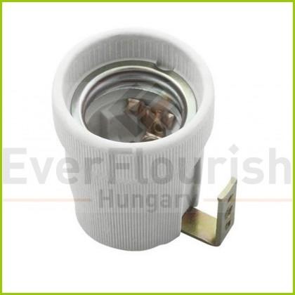 Foglalat E27, porcelán rögzítő füllel 0712H