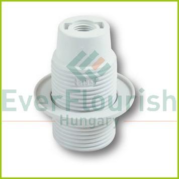 Foglalat E14, csillárfoglalat gyűrűvel, fehér 0717H