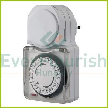 Időkapcsoló, mechanikus, napi,15 perc 0742H