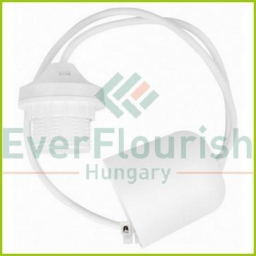 Lámpafüggeszték, E27, 70cm, fehér 0756H