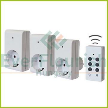 Wireless socket set, 1 remote controller+3 socket, 3x1000W 25m 0773H