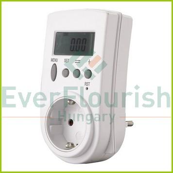 Fogyasztásmérő digitális, köztes csatlakozóaljzat formában  0785H