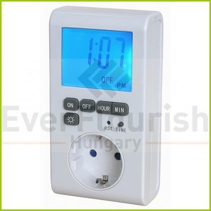 Időkapcsoló, digitális, XXL LED kijelzővel 0814H