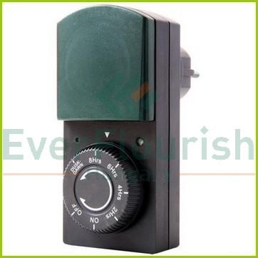 Időkapcsoló, mechanikus, alkonykapcsolóval és visszaszámláló funkcióval 0823H