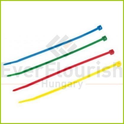 Kábelkötegelő, 300x4.8mm, színes, 100db 08303