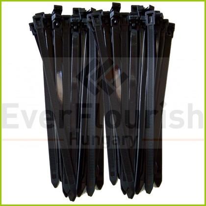 Kábelkötegelő,  többször használható,  200x7.6mm, fekete, 25db 08305