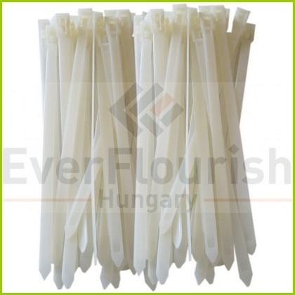 Cable ties 25pcs, 200x7.6 reusable, white 08315