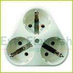 Triple socket , white 10080