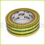 Szigetelőszalag, 19mm x 10m, zöld/sárga 18236