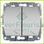 TREND  dupla váltókapcsoló, ezüst 20553