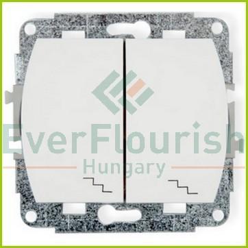 TREND  dupla váltókapcsoló, fehér 20554