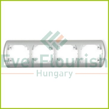 Trend 4-way cover frame, horizontal, silver 20593