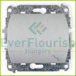 TREND  váltókapcsoló jelzőfénnyel, ezüst 20693