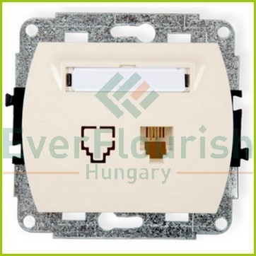 Trend Telephone connection socket 1-way without frame, beige 20775