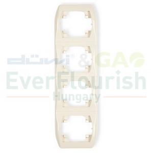 Trend 4-way frame, vertical, beige 20845