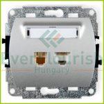 TREND telefon+ ISDN csatlakozóaljzat, ezüst 20893