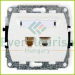 TREND telefon+ ISDN csatlakozóaljzat, fehér 20894