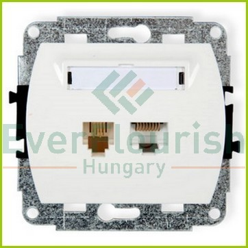 Trend Telephone+ISDN connection socket, without frame, white 20894