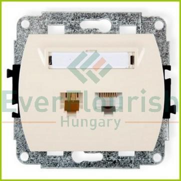 TREND telefon+ ISDN csatlakozóaljzat, bézs 20895