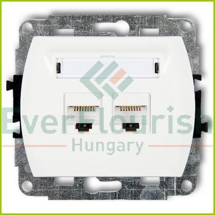 TREND  ISDN csatlakozóaljzat, 2-es, fehér 20896