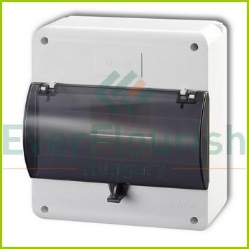 Falonkivüli biztosítéktábla, 1 x  8 modul IP30 24610