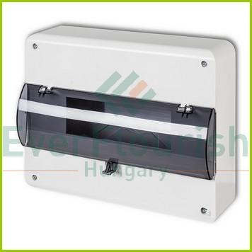 Falonkivüli biztosítéktábla, 1 x 12 modul IP30 24611