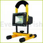 LED fényvető, hordozható, tölthető 10W 600lm 3.7V 2200mAh 2707211060
