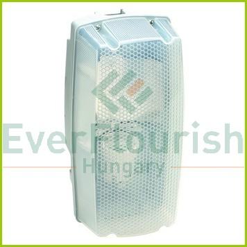 """Lámpatest """"BRICK"""", E27 21W kompakt fénycsövekhez, IP54, szürke 350009"""