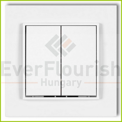 MINI csillárkapcsoló  kerettel fehér 4101H