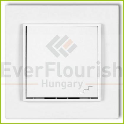 MINI váltókapcsoló kerettel fehér 4102H