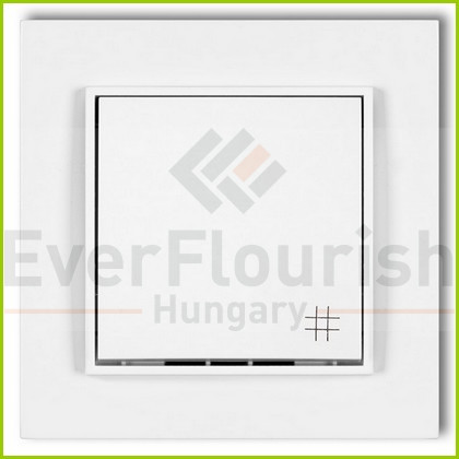 MINI keresztkapcsoló kerettel fehér 4104H