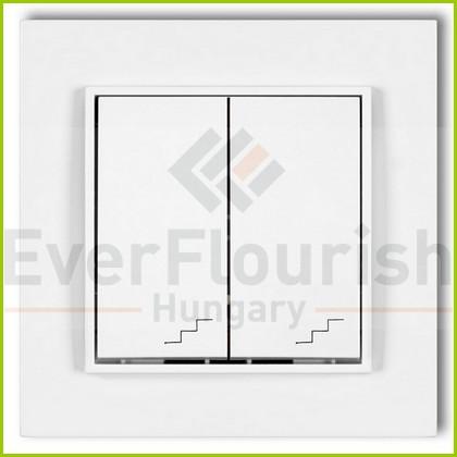 MINI dupla váltókapcsoló kerettel fehér 4105H