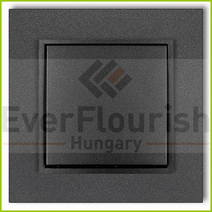 MINI egypólusú kapcsoló kerettel metál grafit 4114H