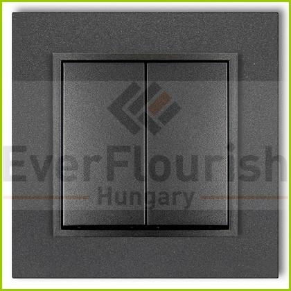 MINI csillárkapcsoló  kerettel metál grafit 4115H