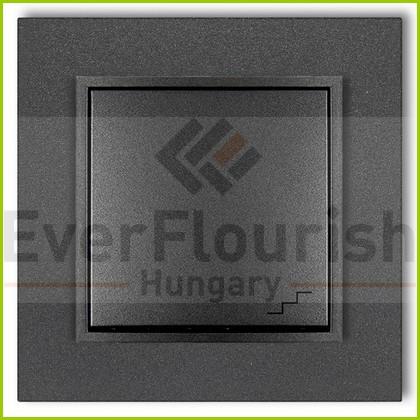 MINI váltókapcsoló kerettel metál grafit 4116H