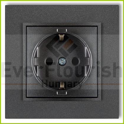 MINI egyes dugalj kerettel metál grafit 4121H