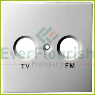 MODUL antenna (TV-FM) fedlap, keret nélkül, fehér 4708H