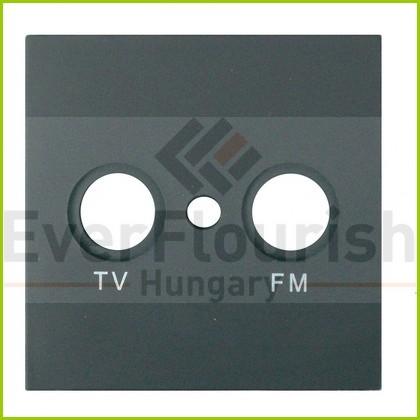 MODUL antenna (TV-FM) fedlap, keret nélkül, fekete 4728H