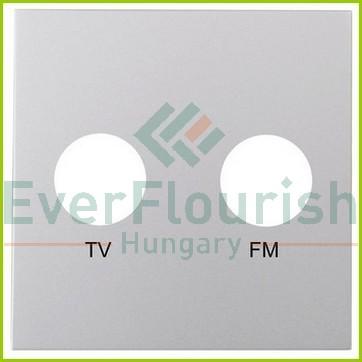 MODUL antenna (TV-FM) fedlap, keret nélkül, ezüst 4748H