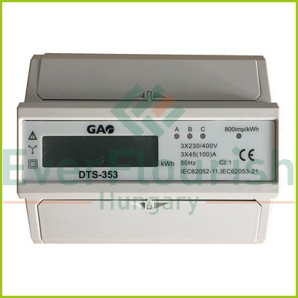 3 pólusú digitális almérő DIN sínre, szürke 5257H