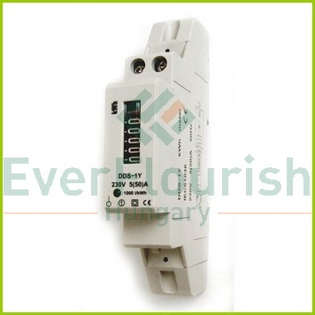 1 pólusú elektromechanikus almérő DIN sínre  5258H