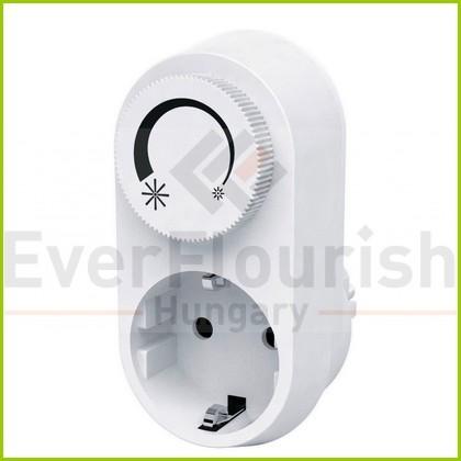 Földelt köztes csatlakozóaljzat, fényerőszabályzóval LED-hez 6032H
